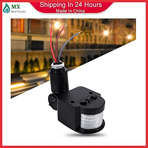 35506b266f86 Generic LED Outdoor 90~250V 180 Degree Security Infrared PIR Motion Sensor  Detector Switch