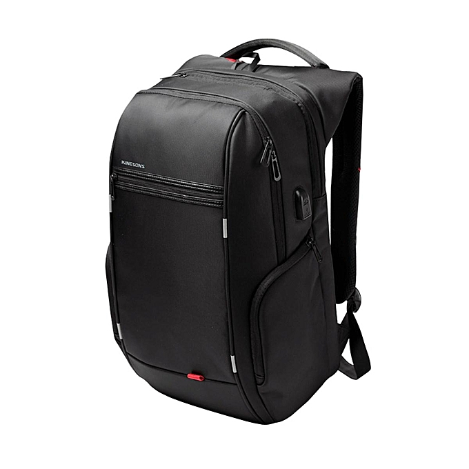 cd94fedeb465 Fahion Men 15.6 Inch Notebook Waterproof Laptop Backpack+USB Charge Computer  Bag Travel Outdoor Backpack