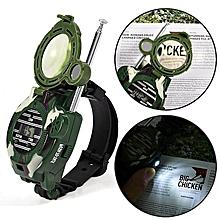 2Pcs Mini Kids Walkie Talkie Children Wrist Watches Intercom Outdoor Toy Gift Kits JY-M