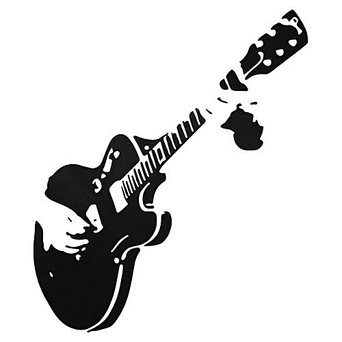 Universal Guitar Wall Sticker Guitarist Music Removable Decal Home