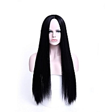 Ultra long,straight semi human wig- with a wig cap-20 inches