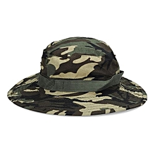 Bucket Hat Boonie Hunting Fishing Outdoor Wide Cap Brim Military Green