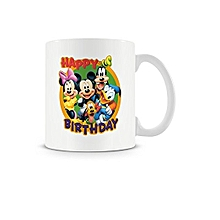 Happy Birthday Coffee Mug with Mickey Mouse