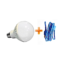 LED Intelligent Emergency Bulb 5W White, Get One Free Android Cable Blue