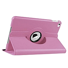 2 in 1 iPad Mini 4 Cover Case Plus Screen Protector 360 Degree Rotating PU Leather Stand Smart Case Cover with Automatic Wake/Sleep Feature for iPad Mini 4 (Pink) CHD-Z