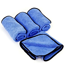 4 X Towel Cleaning Cloth Cleaning Car Furniture Home Window 96g 40x 40 Cm Blue