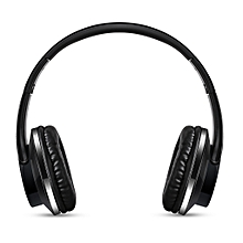 Fodable Wireless Bluetooth Headphones 32G TF Card Player / FM Radio / Aux In Function For Phones (Black)-Black