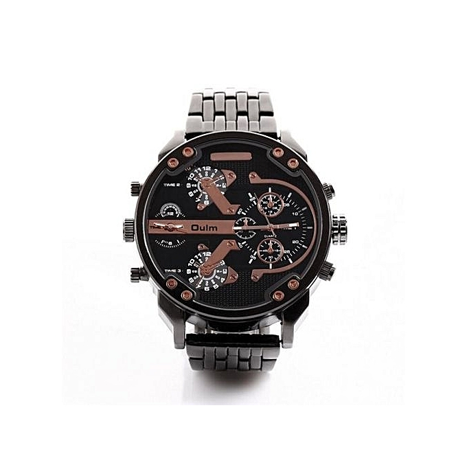 8039784374c Oulm Luxury Brand DZ Men Alloy Metal Watch 4 Colors Big Size Army Dual Time  Male