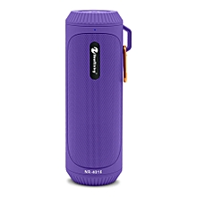 NewRixing NR - 4016 Outdoor Wireless Bluetooth Stereo Speaker Portable Player - PURPLE