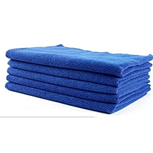 4 PCS Large Microfibre Cleaningcar Towel 30×30cm  Auto Car Detailing Soft Cloths Wash Towel Duster Blue