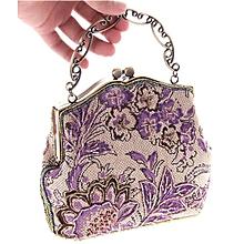 Hot sale Burlap Embroidered Bags Handbags Ladies Bags Classical Beaded Bags