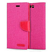 Mooncase Full Cover PU Leather Flip Case For Huawei P10 Plus Pink