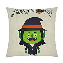 Happy Halloween Pillow Cases  Linen Sofa Cartoon Cushion Cover Home Decor A