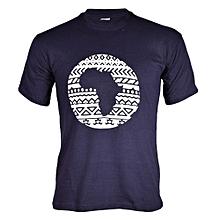 Navy Blue Tribal Afro T-shirt