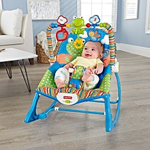 Fisher Price Infant to Toddler Rocker/Bouncers with vibrations ( 0+ months) - Blue