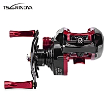 Casting Fishing Reel with Metal Deep Spool - Red