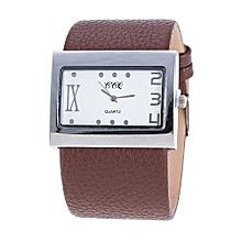 Lady  Leather Wrist Watch CCQ CCQ Brand Leather Watch Men Women Wristwatch Quartz -Brown