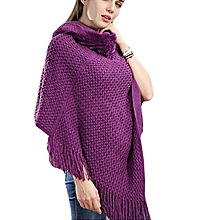 Elegant ,Stylish &  Neat Hooded   Poncho- Purple