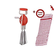 Mixer,Whisker and Beater - Red (+ Free Gift Hand Towel)