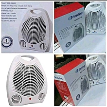Room Fan heater with adjustable thermostat and normal, warm and hot wind for selection.