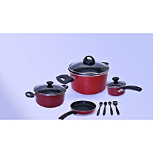 Cooking Ware Set - 12 pcs - Value pack - Red