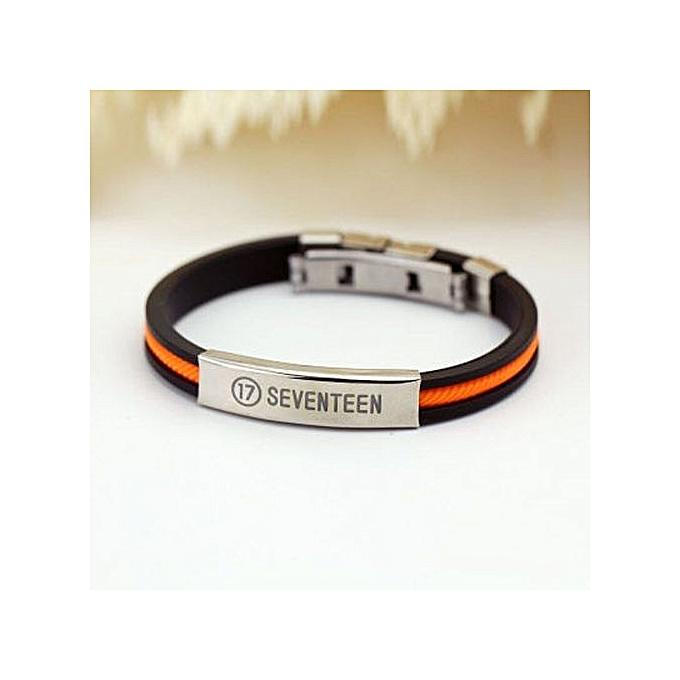 Kpop Fan Bts Bangtan Boys Bulletproof Boy Scouts Sport Silicone Anium Steel Friendship Wristband Bracelets