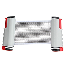 Retractable Telescopic Table Tennis Net Adjustable Rack Set Kit For Ping Pong