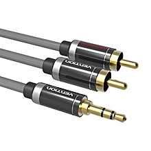 Vention P560AC-H300 Gold-plated 2 RCA Jack Plug Stereo Aux Cable HIFI 3.5mm Jack to 2 RCA Audio Cable for Home Theater DVD VCD Headphones ULINE