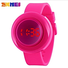 Fashion Casual Women Digital Watches Push Button Red LED 30M Waterproof Wristwatches Complete Calendar Ladies Watch(Rose)