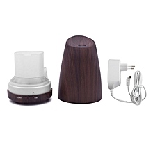 Home-Inclined Mouth Air Humidifier Essential Oil Diffuser with Colorful LED Lights*Dark Wood Grain