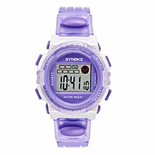 Famous Sport LED Digital Watches Men Fashion Top Brand Wrist Watch Male Electronic Clock Digital-watch(Purple)