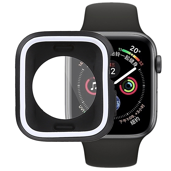 bd0348249841 Silicone Full Coverage Case for Apple Watch Series 4 40mm(Black White)