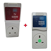 Fridge Guard  with free tv guard Mk - White