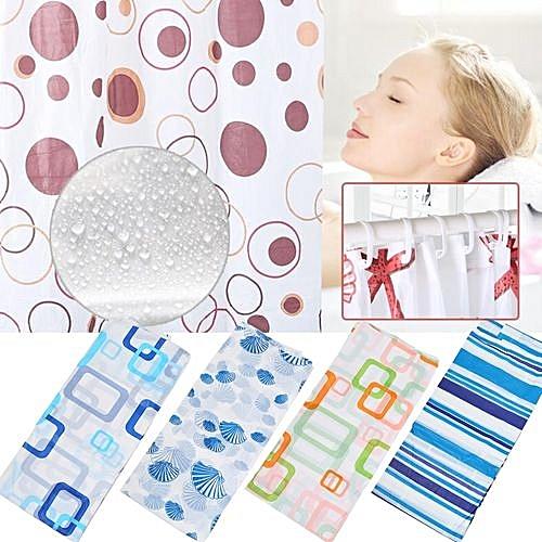 Generic Shower Curtain Hooks Showerroom Waterproof Home House Decor Decoration