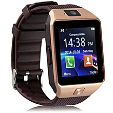 DZ09 Fashion Smart Watch Phone for Android and Apple - Gold Brown