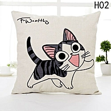 Hequeen  Cartoon Printing Cheese Cats Kitten Linen Pillow Pillowcase Home Decorative Cushion Throw Pillow Cover Reliable Quality