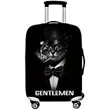 Honana 3D Cool Black Cat Lion Elastic Luggage Cover Trolley Case Cover Durable Suitcase Protector for 18-32 Inch Case Warm Travel Accessories #S