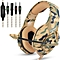 ONIKUMA K1 Camouflage PS4 Headset Bass Gaming Headphones Game Earphones Casque with Mic