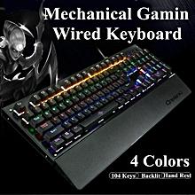 104 Keys Wired K29 LED Backlit Usb Ergonomic Mechanical Gaming Keyboard Gamer