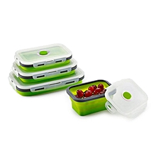 Honana Silicone Folding Bento Box Collapsible Portable Lunch Box For Food Dinnerware Food Container