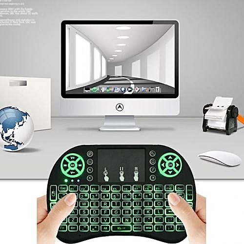 Generic Wireless Mini Keyboard 2.4G with TouchPad Mouse For Smart TV/ Android Box - Black