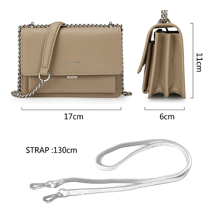 ... PU Leather Women Shoulder Bags Crossbody Bag With Chain Fashion Messenger Bag ...