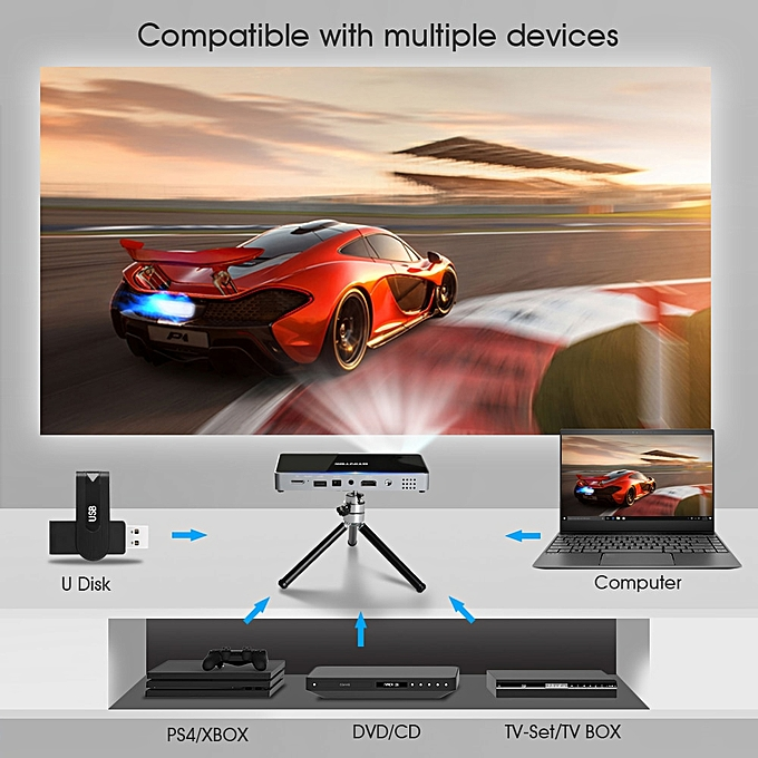 BYINTEK UFO P10 Portable Smart Home Theater Pocket Android 7 1 2 OS Wifi  Mini HD LED Projector For Full HD1080P MAX 4K HDMI ASQOB