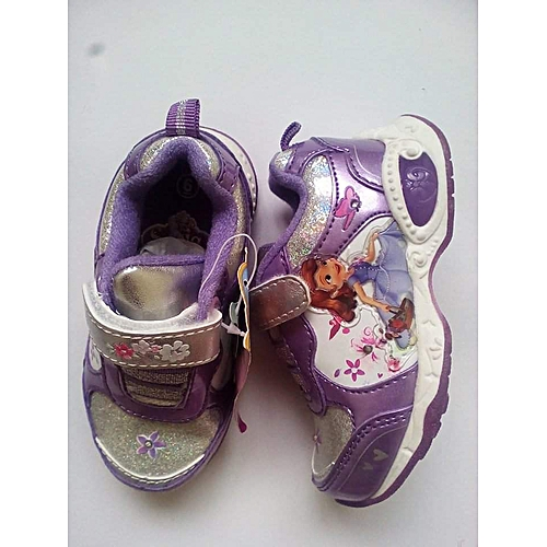 47eaf03535e92 Buy DISNEY Girls Light-up Cartoon Sneakers (PURPLE SOFIA)   Best ...
