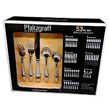 53 Pc Set Service for 8 Stainless Steel Flatware Dinner Set; Spoons, Fork & Knives Dinnerware