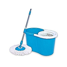 360 Rotating - Spin Mop & Bucket Set - Blue & White