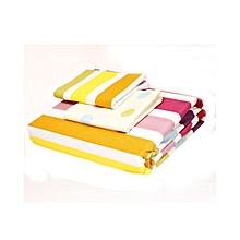 4Pc - Flat Bedsheet Set - 5 x 6 - Multicoloured