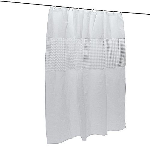 Contracted Series Bathroom Door Curtain PEVA Splicing 3D Waterproof Anti Mould Shower Partition