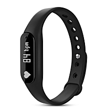 C6 Bluetooth 4.0 Smart Bracelet w/ Heart Rate Monitor - Black