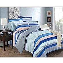 Duvet Cover 100% Cotton Blue Striped